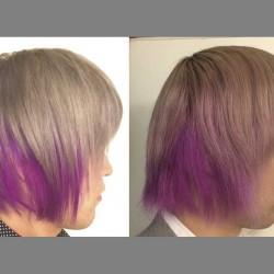 【派手髪】紫とグレーの色落ち過程を毎日写真に撮って調べてみた