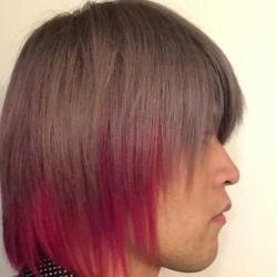 【派手髪】赤とグレーの色落ち過程を毎日写真に撮って調べてみた