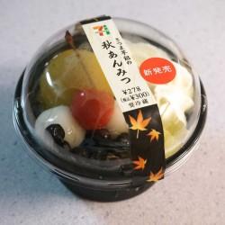 セブンイレブン さつま芋餡の秋あんみつを食べてみた