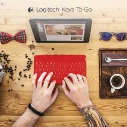 薄型で携帯しやすい耐水設計のiPad・iPhone用キーボード「Keys-To-Go」