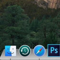 【OS X Yosemite】ドックの背景を3D化する設定方法