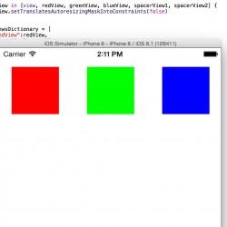 Auto Layoutをコードで記述してビューを等間隔に並べる【Swift】