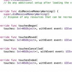 Swift 1.2でtouchesBeganメソッドのNSSetがSetへ変更されました
