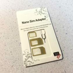 SIM変換アダプタセットを買ってみた。nanoからmicro、nanoから標準、microから標準へ変換できます