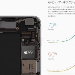 iPhone 6s/6s Plusに搭載されるA9/M9チップの性能について調べてみた