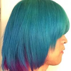 【派手髪】アトミックターコイズ&ピンクの色落ち・色持ちを写真に撮って調べてみた【マニパニ】