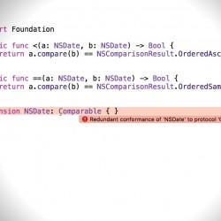 【解決】Redundant conformance of 'NSDate' to protocol 'Comparable'エラーが出た時の対処方法