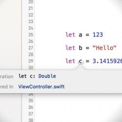 【Swift】Xcodeで型推論された変数や定数の型を調べる方法