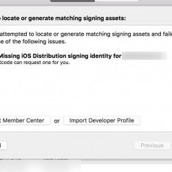 2016年2月15日以降、Missing iOS Distribution Signing identity for XXX というエラーが出た場合の解決方法