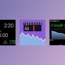 Apple Watch対応の体重管理・ダイエットアプリ「体重ウォッチ」をリリースしました