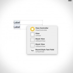 XcodeのStoryboardで部品を選択しやすくする2つの方法