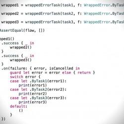 SwiftTaskで失敗したタスクによって異なるエラー処理を行う方法