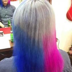 スーサイドスクワッドのハーレイクインっぽい髪色に染めてもらった【マニパニ】