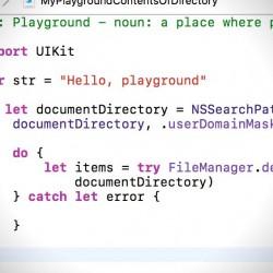 [iOS][Swift]指定したディレクトリにあるファイルの一覧を取得する