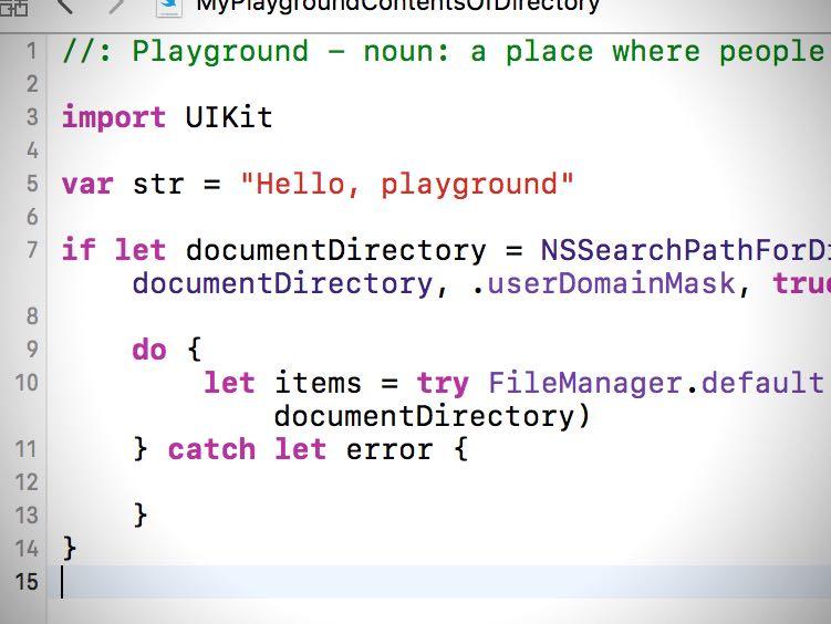 iOS][Swift]指定したディレクトリにあるファイルの一覧を取得する