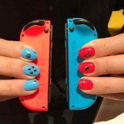 【メンズネイル】Nintendo Switchネイルしてもらった!