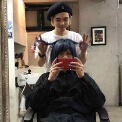 【派手髪】渋谷・原宿のヘアサロンWille(ヴィレ)でブルーに染めてもらった